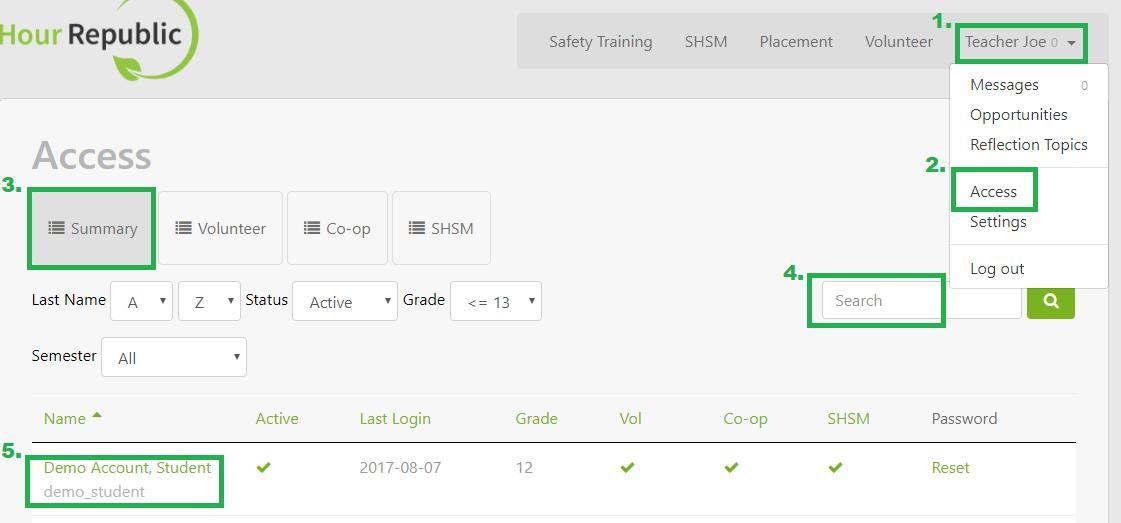 How do I access Student Settings